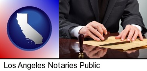 Los Angeles, California - a notary public